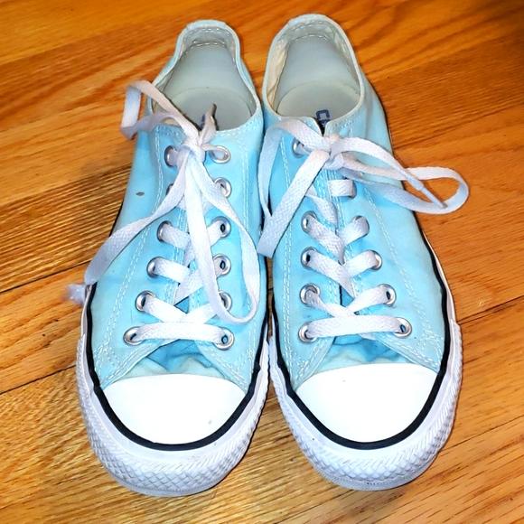 Converse low top Chucks sneakers mint green 7